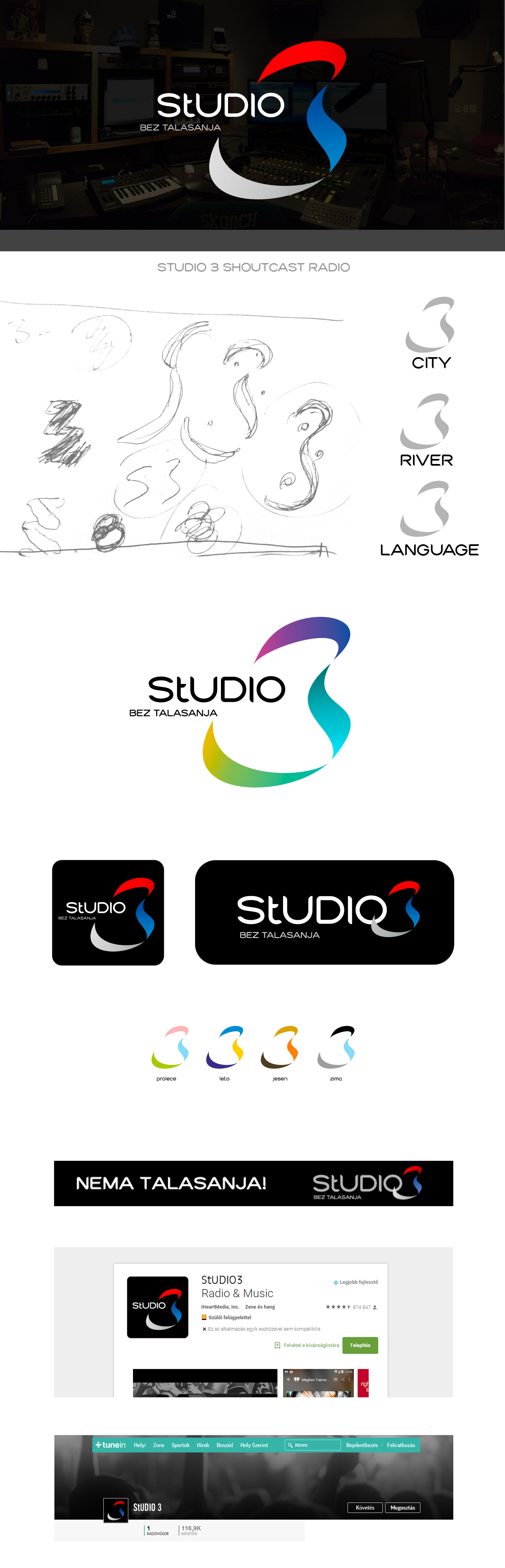 Studio 3 logo design branding showcase